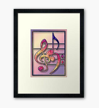 Music Symbols2 Framed Print