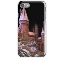 The beauty of Hogwarts castle at Christmas time iPhone Case/Skin