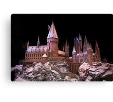 The beauty of Hogwarts castle at Christmas time Canvas Print