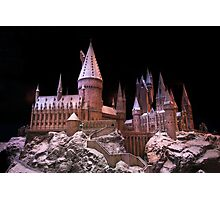 The beauty of Hogwarts castle at Christmas time Photographic Print