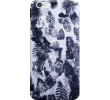 Snow and footprints  iPhone Case/Skin