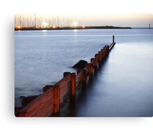 from Hampton across to Brighton yacht club Canvas Print