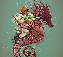 The Water Warrior by TaylorRoseArt