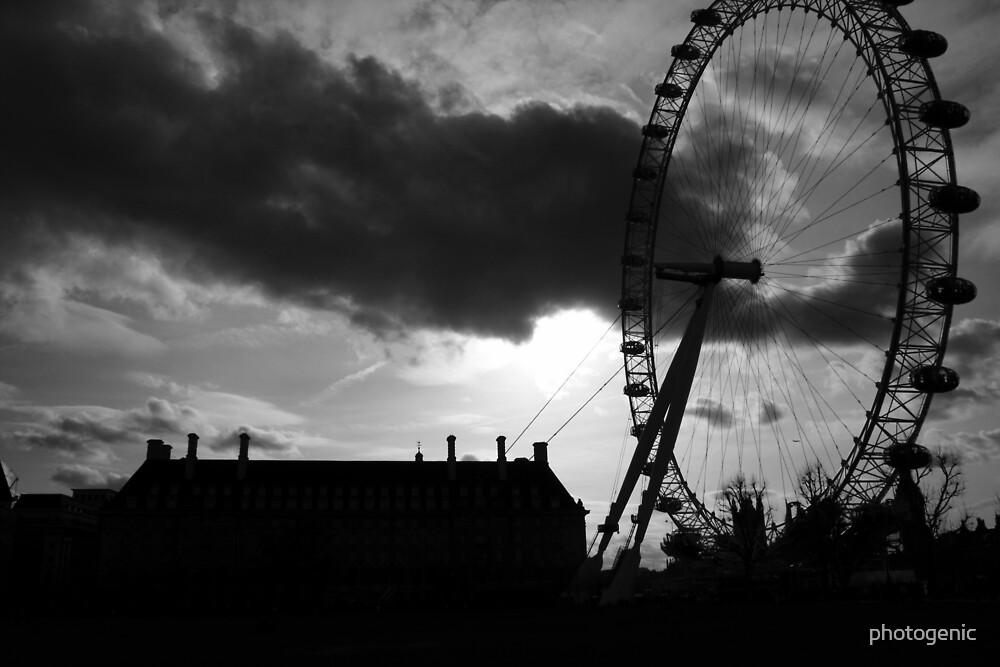 london eye silhouette 2 by photogenic