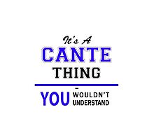 It's a CANTE thing, you wouldn't understand !! by yourname