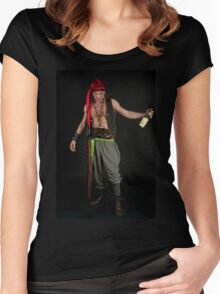 Drunk Male Pirate Women's Fitted Scoop T-Shirt