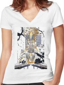 From Paris to New York Women's Fitted V-Neck T-Shirt