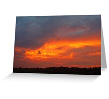 sunset before the storm Greeting Card