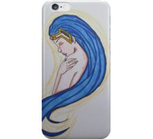 Blue-Haired Princess iPhone Case/Skin