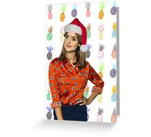 Clara Oswald, Christmas - Doctor Who | #InfiniteTARDISMerch Greeting Card