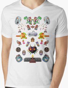 SNES Classics Mens V-Neck T-Shirt