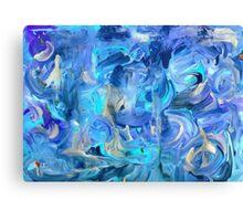 Six Shades of Blue Canvas Print