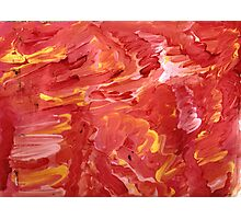 Red with Yellow Streaks Photographic Print