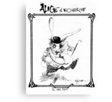 The White Rabbit - ALICE IN WONDERLAND - Ralph Steadman Canvas Print