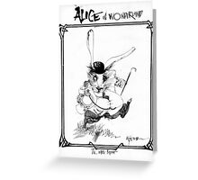 The White Rabbit - ALICE IN WONDERLAND - Ralph Steadman Greeting Card