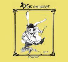 The White Rabbit - ALICE IN WONDERLAND - Ralph Steadman One Piece - Short Sleeve