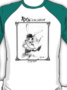 The White Rabbit - ALICE IN WONDERLAND - Ralph Steadman T-Shirt