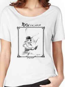 The White Rabbit - ALICE IN WONDERLAND - Ralph Steadman Women's Relaxed Fit T-Shirt