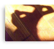 Bunny Shadow Canvas Print