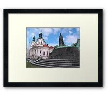 Church in Staromestske square Framed Print