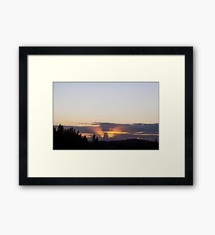 Michigan Cloud at Sunset Framed Print