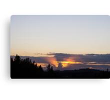 Michigan Cloud at Sunset Canvas Print