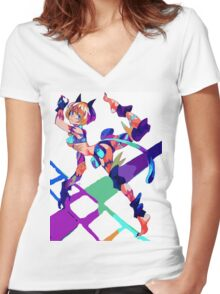 Miss Fortune Women's Fitted V-Neck T-Shirt