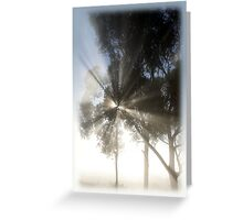 Mighty misty morning Greeting Card