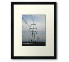 Whistling Wires Framed Print