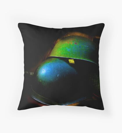 helmets copyright: Barbara Heide Throw Pillow