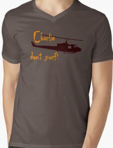 Charlie dont surf Mens V-Neck T-Shirt
