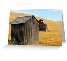 Western Barns Greeting Card