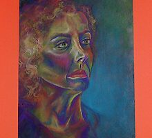 Portrait of my mom by Alora Tishok