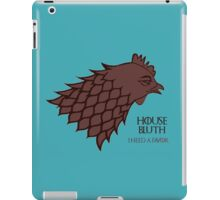 "HOUSE BLUTH - ""I need a favor"" iPad Case/Skin"