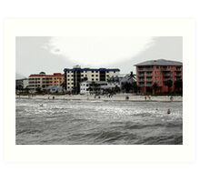 Fort Meyer's Beach Art Print
