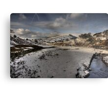 Snow On The  Snake Metal Print