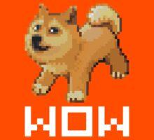 Pixel Doge Wow Kids Tee