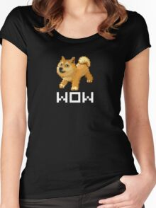 Pixel Doge Wow Women's Fitted Scoop T-Shirt