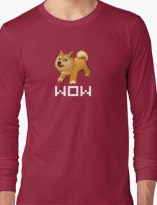 Pixel Doge Wow Long Sleeve T-Shirt