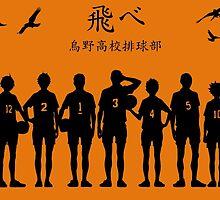 Haikyuu!! - Karasuno orange/black by TrashCat