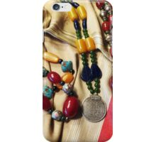 Amber And Glass Beads iPhone Case/Skin