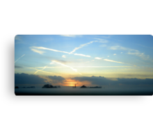 """December Sunset Holland Colour - """"In Holland staat en huis""""  Canvas Print"""