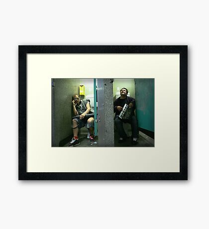 Musical Chairs Framed Print