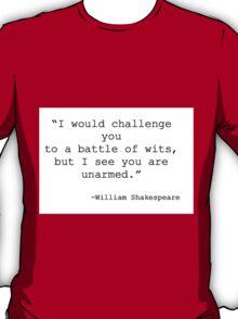 William Shakespeare Quote T-Shirt