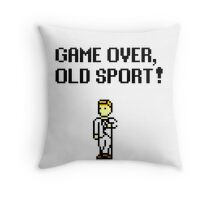 Game Over, Old Sport! Throw Pillow