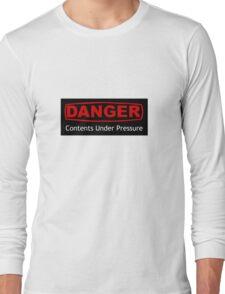 Danger Contents Under Pressure Long Sleeve T-Shirt
