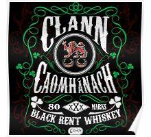 Kavanagh Clan Vintage Bourbon Whiskey Poster