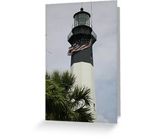 Fourth of July Lighthouse Greeting Card