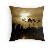 Sunrise in Honolulu Throw Pillow