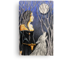 Howling Down The Moon Canvas Print